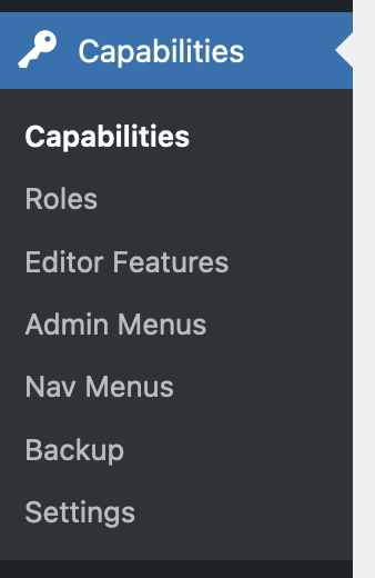 Editor Features Menu