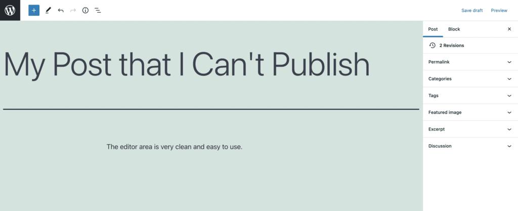 Gutenberg No Publish