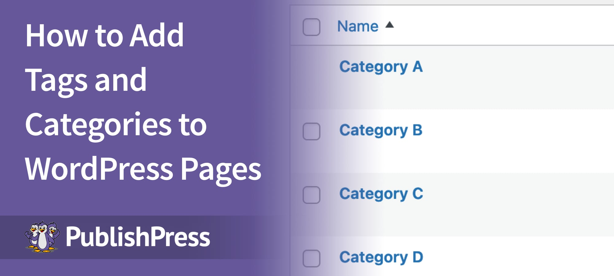 Tags Categories Page