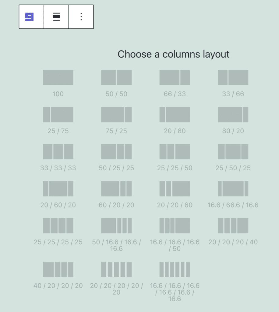 Columns Manager Description