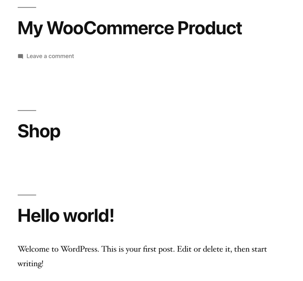 Post Page Product Url