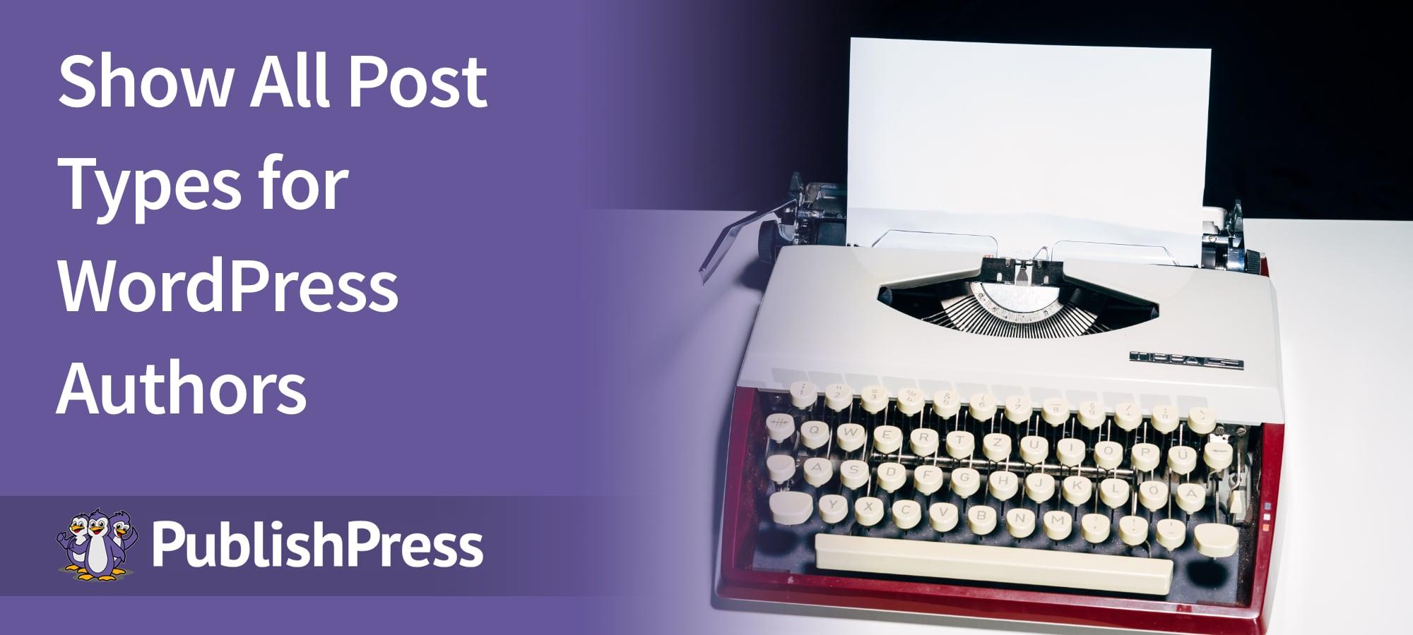 Show Post Types Author 1