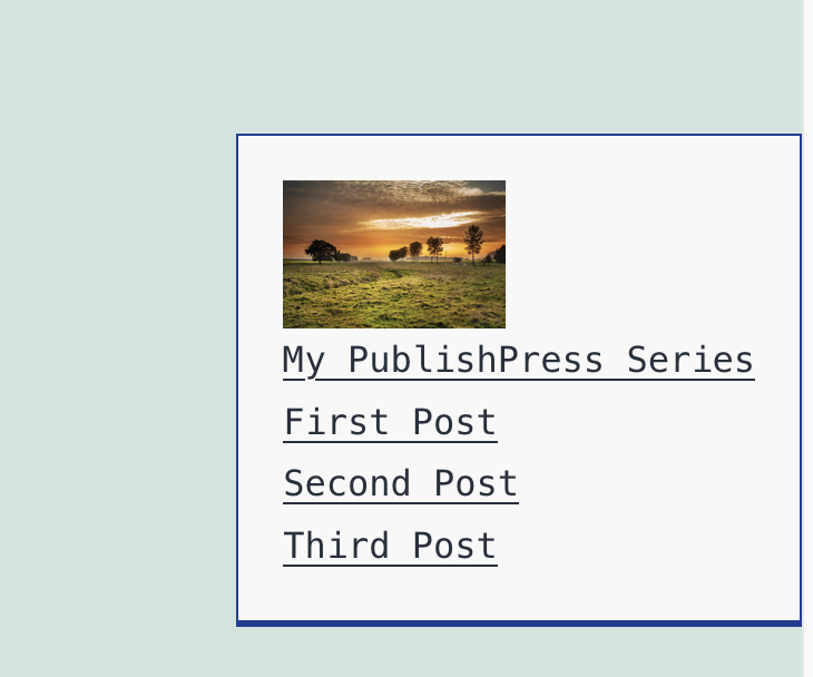Post List Box