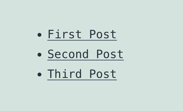 Post List