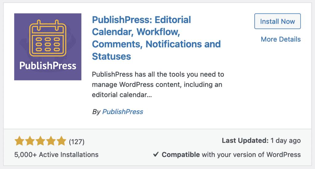 Publishpress Install